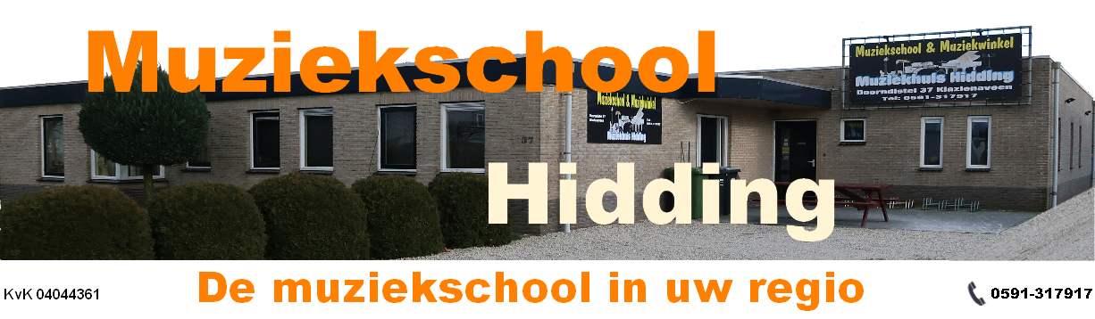 Muziekschool Hidding is er voor u.
